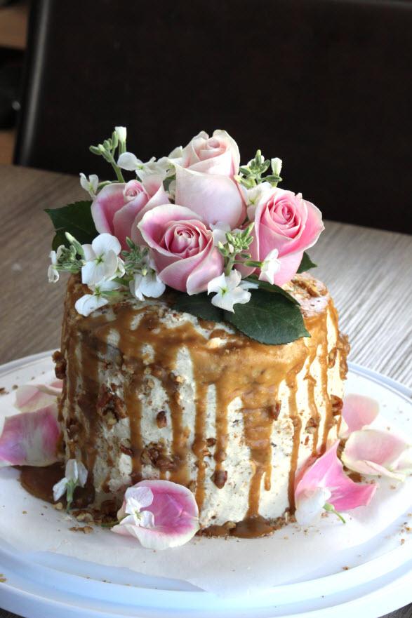 Baked Pear Inside Of Cake